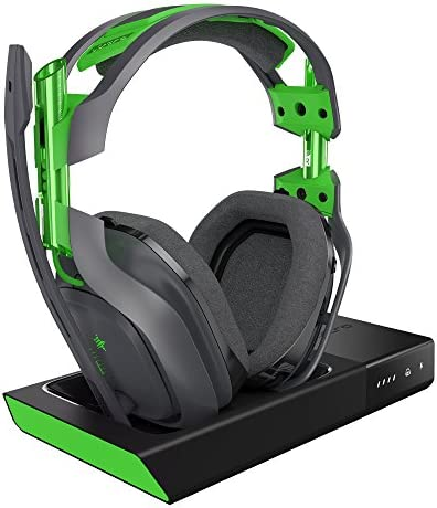 ASTRO Gaming A50 Wireless Dolby Gaming Headset - Black/Green - Xbox One + PC (Renewed)
