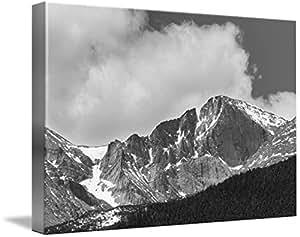 "Wall Art Print entitled Colorado Longs Peak West Face Noir by James ""BO"" Insogna | 48 x 32"