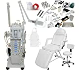 2 in 1 steamer and mag lamp - 22 in 1 Elite Series Multifunction Diamond Microdermabrasion Facial Machine & Adjustable Stationary Bed Table Chair Salon Spa Beauty Equipment