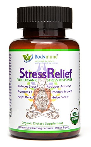 n Flower Ashwagandha Valerian Root Chamomile Lemon Balm Chlorella Effective Mood Support Best Stress Anxiety Relief by Bodymune | USDA Organic All Natural Vegan Gluten Free Non-GMO ()