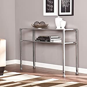 Southern Enterprises Metal/Glass Console Table – Silver