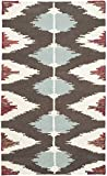 Cheap Safavieh Dhurries Collection DHU647A Hand Woven Multicolored Premium Wool Area Rug (3′ x 5′)