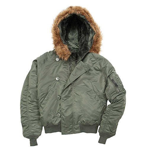 - Alpha Industries Men's Alpha N-2B Short Waist Parka, SAGE, XS