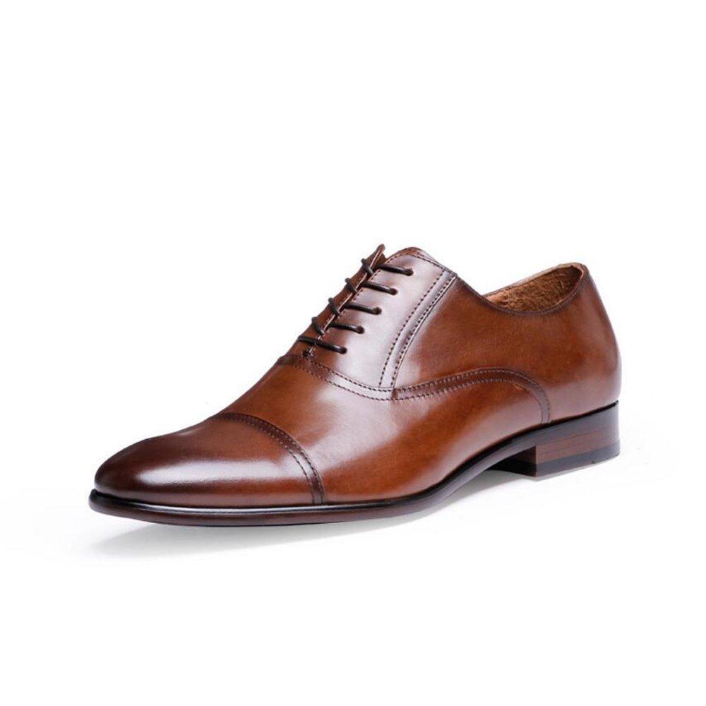 GAOLIXIA Männer Casual Spitz Oxford Schnürschuhe Business Schuhe Herrenmode Leder Formale Schuhe Große Größen 6-14