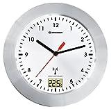 Bresser MyTime Bath Bad Wanduhr mit Temperaturanzeige und Funkuhr 8020114, weiß