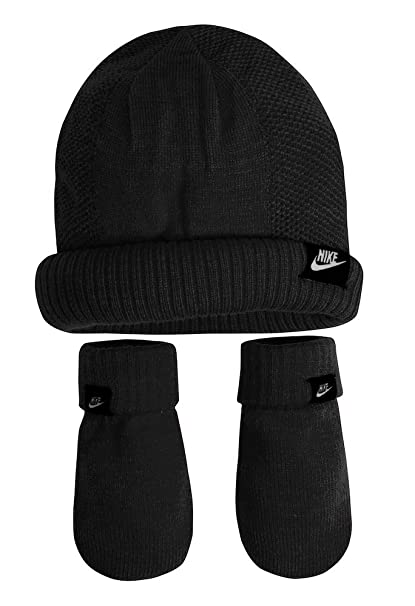 Amazon.com  Nike Baby Girls  Knit Beanie   Mittens Set  Sports   Outdoors e689571af4f