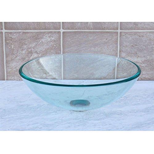 QIERAO Glass Vessel Bathroom Vanity Sink (Clear)