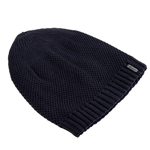 warm versión Corea sombrero D knit en y man Sombrero el Añadir lana sombrero color invierno invierno puro sombrero otoño hat de gorro Hombres de Cachemira hombre qExnntUO