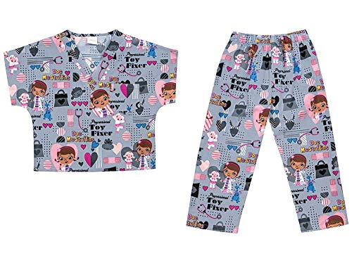 Tooniforms Toy Fixer Kids Top and Pant Scrub Set]()