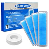 ScarOut! Silicone Scar Sheets for Scar Removal (2-4 Month Supply) – C Section Recovery Scar Treatment, Keloid Scar Removal and Acne – 4x Silicon Sheets For Scars in two sizes – Scar Gel Silicone Tape