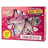 LITTLE ANGELS KIDS CHILDREN GIRLS MAKE UP SET KIT GLITTER EYE SHADOW LIPSTICK GLOSS HAIR MASCARA BLUSHER TIARA 21 PIECES