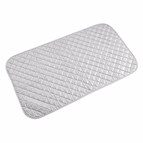 MZlots Magnetic Ironing Mat, Laundry Pad/Blanket/Cocer/Board for Dryer. 100% Cotton, 33 x 19 Inch
