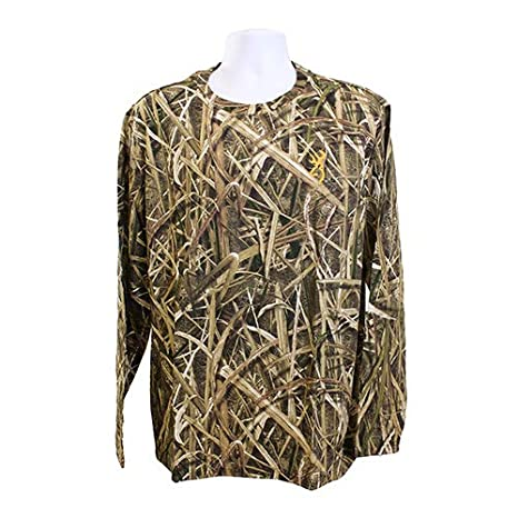 4bfc2087b118e Image Unavailable. Image not available for. Color: Browning 3017822504  Wasatch-CB Long Sleeve T-Shirt, Mossy Oak Shadow Grass Blades
