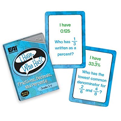 EAI Education I Have, Who Has? Fractions, Decimals, and Percents Game: Grades 5-6: Toys & Games