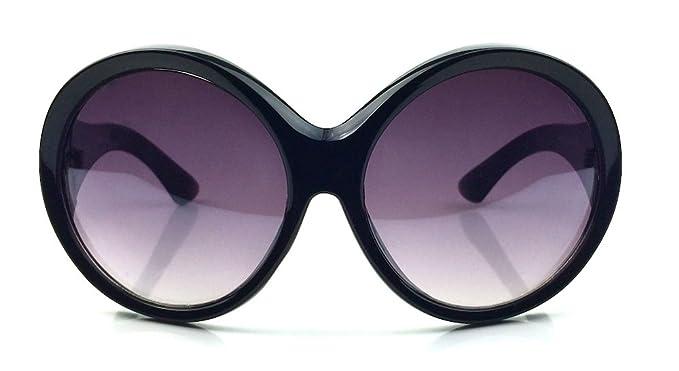 e536b3e8a17bc Designer Fashion Oversized Oval Round Large XXL Thick Frame Women  Sunglasses Ali (Black)