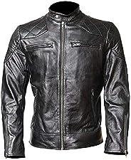 Mens Leather Jacket - Real Lambskin Vintage Jacket for Mens