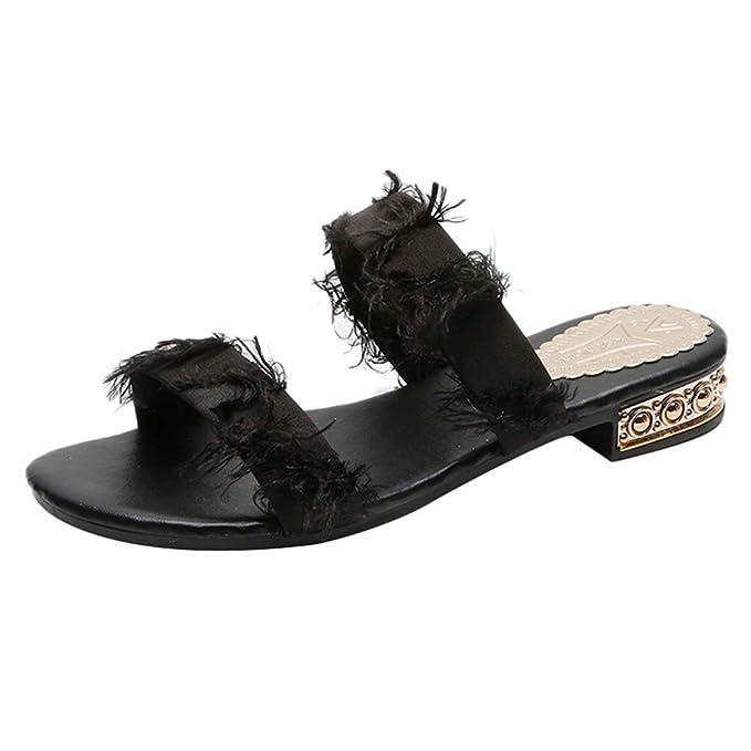 c11434cfbb26e Minikoad}Women Flat Sandals,Ladies Wild Wear Casual Round Head Solid ...