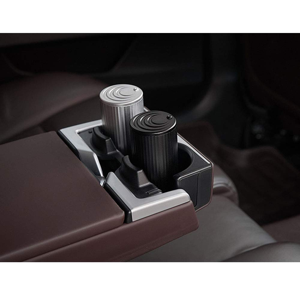 Car Ashtray with 360 Degree Rotating Lid fit Most Auto Car Cup Holder,Aluminum Alloy Car Ashtray,Easy Clean Up and Open