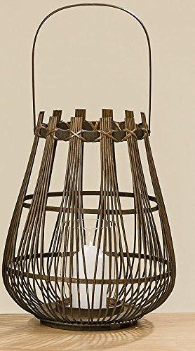 Meubles, décoration, ornement - lanterne tressée pour bougies - matériel: bambou - style: classique, ethnique - couleur: marron - dim. ca 43 cm
