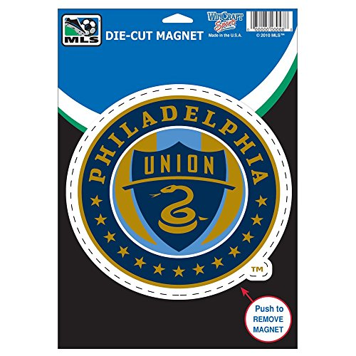 fan products of SOCCER Philadelphia Union Die Cut Logo Magnet, 6.25