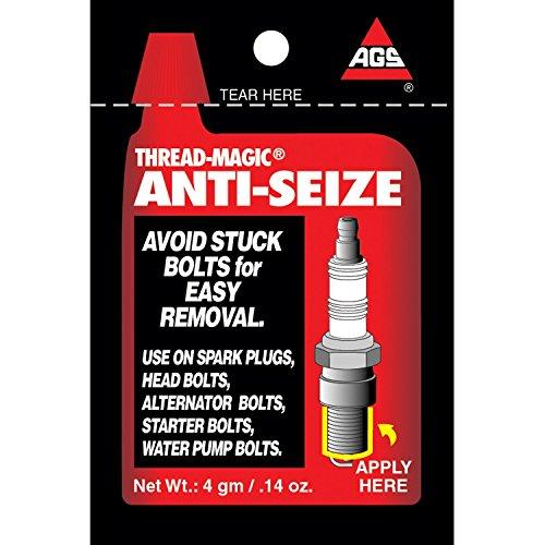 AGS Thread-Magic Spark Plug Anti-Seize, Single-Use 4g pouches, pack of 25 - Anti Spark Seize Plugs