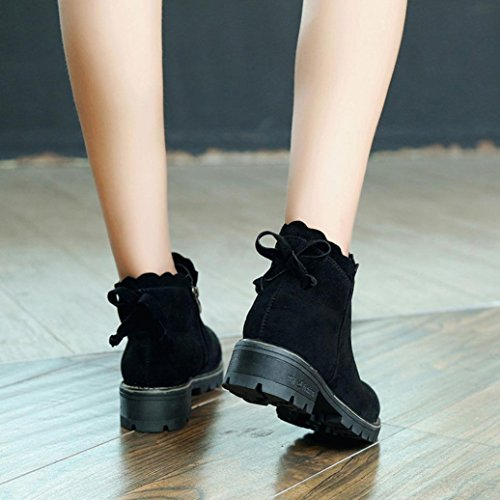 Shoes Boots Short Ankle Xinantime Black Fashion Butterfly Wedge Low Boots Women Oq5TYO