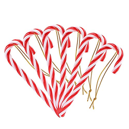 """Naler Christmas Candy Cane Hanging Party Decorations, Plastic, 4.5"""", Pack of 12"""