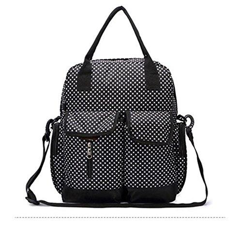 Bolsa de pañales, baby mochila, bolsa de mamá Multifuncional, gran capacidad bolsa cruz diagonal, el cuidado del bebé, café YYDZJ Negro