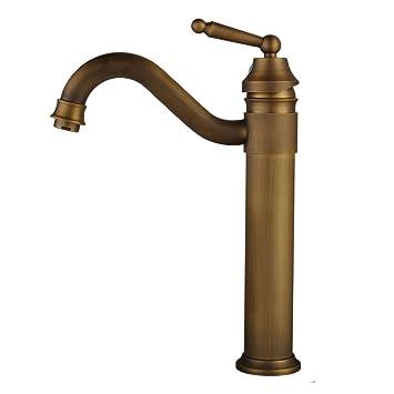 Hiendure Centerset Single Handle Antique Brass Bathroom Vanity Sink
