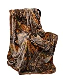 Super Soft Faux Fur Collection Natural Camo Oversize Throw Blanket – Queen / Full