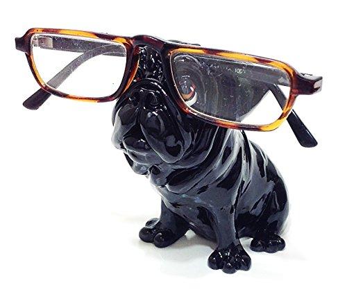 Black Pug Dog Breed Novelty Eyeglass Holder Stand by Distinctive Designs