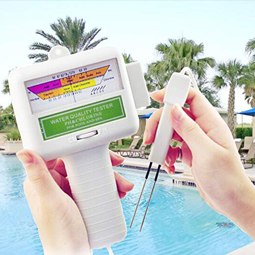 (Funwill Water Quality Tester for Home,Pool,Fish Tank,Aquariums,Hydroponics, Spa, Laboratory,Scientific Testing,PH Residual Chlorine Tester, Water Quality)