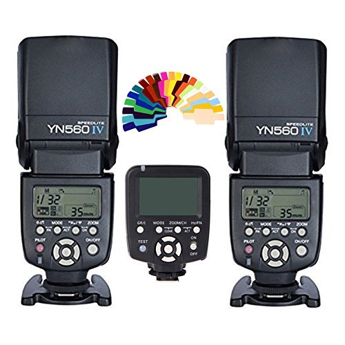 Yongnuo YN-560IV 2PCS Wireless Flash Speedlite kit + YN560-TX LCD Flash Trigger Remote Controller For Canon DLSR Cameras