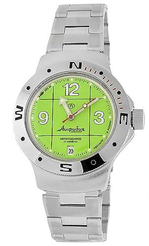 Vostok 060142 de anfibios/2416b Militar ruso buceo reloj 200 M Buceo Auto Amarillo: Amazon.es: Relojes