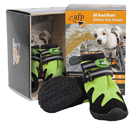 Outdoor Dog - All Road Boots - Hundeschuhe 4er Set - Grün - L
