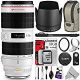 Canon EF 70-200mm f/2.8L IS II USM Telephoto Zoom Lens with Essential Bundle - Includes with DSLR Camera Monopod, UV Filter, Remote Control, Kingston 32GB SD Card, Camera Cleaning Set