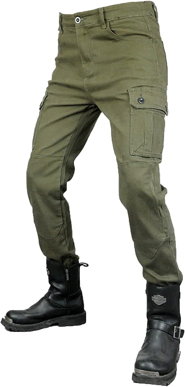 Pantalones de motocicleta para hombre, pantalones vaqueros de moto hechos con Kevlar Aramid, resistentes al desgaste, transpirables con almohadillas extraíbles para cadera y rodilla