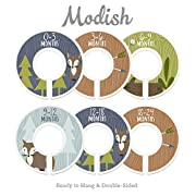 Modish Labels Baby Nursery Closet Dividers, Closet Organizers, Nursery Decor, Baby Boy, Woodland, Fox
