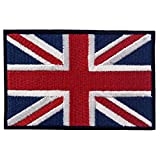union jack patch - EmbTao British Union Jack Embroidered Patch England Flag UK Great Britain Iron On Sew On Emblem