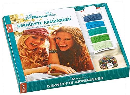 Kreativ-Set Freundschaftsbänder. Makena. Geknüpfte Armbänder: Buch mit Baumwollgarn in 5 Farben und Perlen (Buch plus Material)