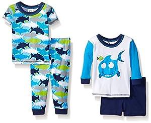 Gerber Baby and Little Boys' 4 Piece Cotton Pajama Set
