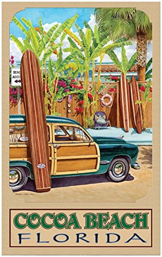 Cocoa Beach Florida Beach Access Travel Art Print Poster by Evelyn Jenkins Drew (24