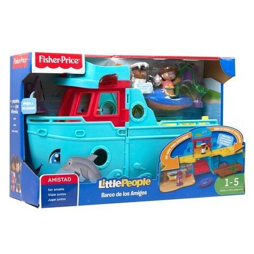 Mattel Playset Little People Barco de Los Amigos