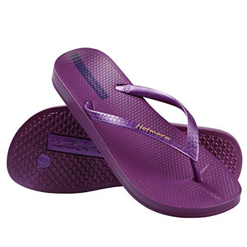 Hotmarzz Chanclas para Mujer Slim Flip Flops Sandalias Verano Playa Piscina Zapatos Violet