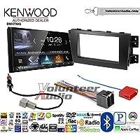 Volunteer Audio Kenwood DMX7704S Double Din Radio Install Kit with Apple CarPlay Android Auto Bluetooth Fits 2009-2011 Kia Borrego
