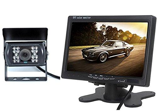 BW 7 pouce LED moniteur en couleurs+caméra vue arrivé étanche caméra vue nuit pour Bus Truck 12V - 24V BW Corp Ac-7001B-24V+AC-5880_BK