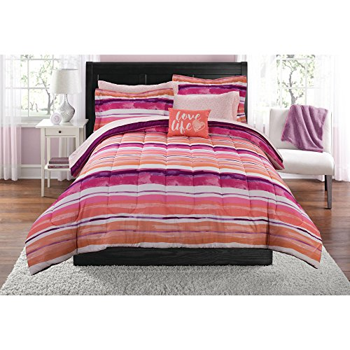 Mainstays Teen Ombre Stripes Multitudes of Pinks, Purples