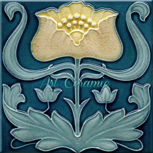 - Art Nouveau Ceramic Tile 6 Inches Reproducction #281