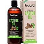 Organic Castor Oil - 16oz - For Moisturizing, Healing, Dry Skin, Hair Growth