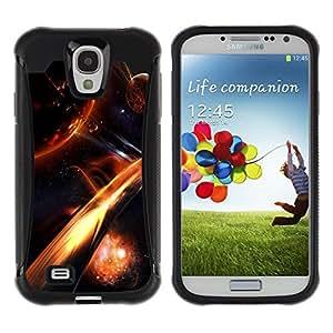 iKiki Tech / Estuche rígido - Apocalypse Fire Galaxy Space Cosmos Planet - Samsung Galaxy S4 I9500